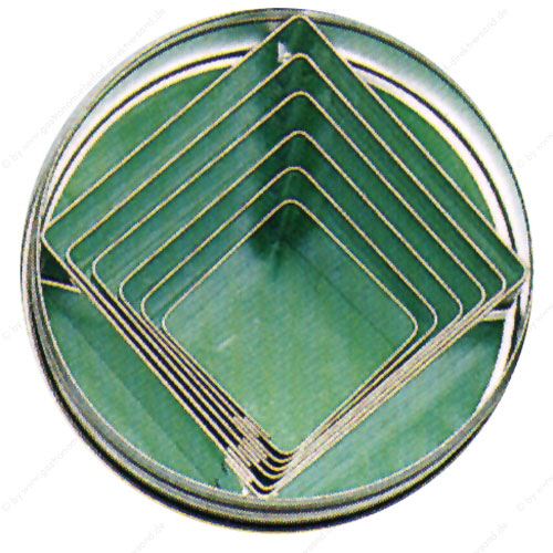 Ausstechformen glatte Form neun Stück oval aus Weißblech
