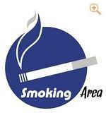 Schild Smoking Area - 7677/044